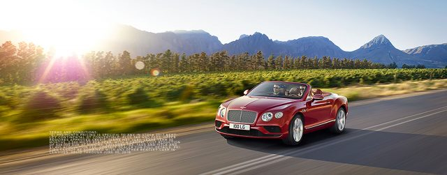 2017 Bentley Continental GT Convertible  Lease for $1,995* / month + Tax For 36 months